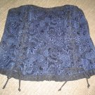 PLUS SIZE DENIM BLACK LACY DETAIL STRAPLESS BUSTIER by TRIPP NYC-2X-CROSSDRESS-TRANSGENDER!