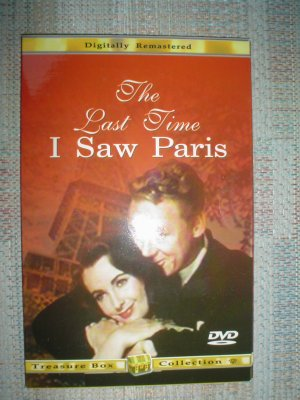 THE LAST TIME I SAW PARIS DVD STARRING: ELIZABETH TAYLOR; VAN JOHNSON!