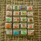 UBERRY ITALIAN 9MM CHRISTMAS THEME CHARM LINKS - LOT OF 20 PIECES!