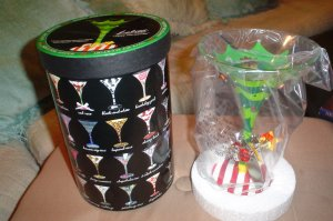 2008 TIPSY CHRISTMAS TREE LOLITA MARTINI GLASS - NEW IN BOX!