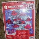 "RED HAT SOCIETY ""RED HATTITUDES ORNAMENTS"" KIT by CANDAMAR DESIGNS INC.!"