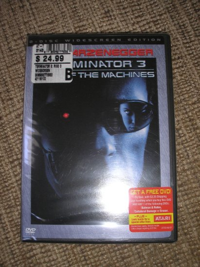 TERMINATOR 3 - RISE OF THE MACHINES DVD'S (2-DISC WIDESCREEN EDITION) (2003) BRAND NEW!