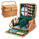"EVEREST ELEGANT ""RESERVATIONS FOR FOUR"" INSULATED PICNIC BASKET - BRAND NEW!"