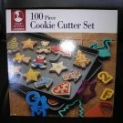 ROSHCO 100 PIECE PLASTIC COOKIE CUTTER SET - NOT JUST FOR COOKIE DOUGH - BRAND NEW!
