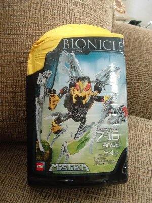 LEGO BIONICLE MISTIKA 8696 BITIL 54 PIECES - YELLOW - BRAND NEW!