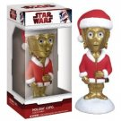 STAR WARS HOLIDAY C-3PO BOBBLE-HEAD by FUNKO - BRAND NEW IN BOX!