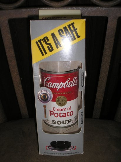 CAMPBELL'S CREAM OF POTATO SOUP DIVERSION CAN SAFE - BRAND NEW!