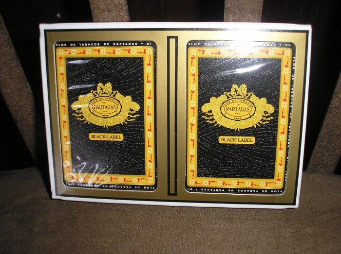 PARTAGAS BLACK LABEL Cigar Logo Poker/Playing Card Set by GEMACO - BRAND NEW!