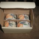 MIKASA GARDEN HARVEST NAPKIN RING SET - 2 SETS AVAILABLE - BRAND NEW IN ORIGINAL BOX!