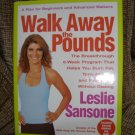 WALK AWAY THE POUNDS:The Breakthrough 6-Week Program by LESLIE SANSON BOOK & DVD - BRAND NEW!