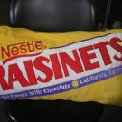 "NESTLES RAISINETS CANDY BAR 29"" PLUSH ACCENT THROW PILLOW by SWEET THANG - BRAND NEW!"
