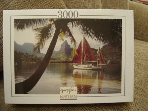 JEUX NATHAN 3000 PIECE JIGSAW PUZZLE - DREAM BOAT - BRAND NEW!