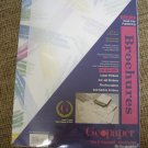 "GEOPAPER PACK OF 100 BROCHURES - ""PAINTBRUSH"" DESIGN - GREAT FOR DESKTOP PUBLISHING - BRAND NEW!"
