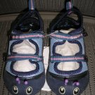 "POLLIWALKS KIDS ""TOYS FOR FEET"" BLUE ""INCHES"" INCHWORM TWO STRAP SHOE - SIZE 8 - BRAND NEW!"