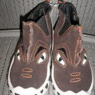 "POLLIWALKS KIDS ""TOYS FOR FEET"" BROWN SUEDE ""CHOMPER"" SLIP ON BOOT/SHOE - SIZE 8 - BRAND NEW!"