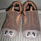"""POLLIWALKS KIDS """"TOYS FOR FEET"""" BROWN SUEDE SLIP ON SHOES - SIZE 8 - BRAND NEW!"""