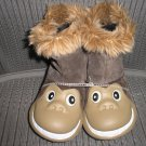 "POLLIWALKS KIDS ""TOYS FOR FEET"" MONKEY PULL ON BOOTS with SUEDE UPPER - SIZE 8 - BRAND NEW!"