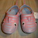 "POLLIWALKS KIDS ""TOYS FOR FEET"" PINK/BLUE SHARK SLIP ON SHOES - SIZE 8 - BRAND NEW!"