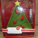 Hallmark Christmas Tree SERVING DISH With LIGHTED SPREADER - BRAND NEW IN BOX!