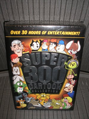 SUPER 300 CARTOON COLLECTION POPEYE,THE THREE STOOGES,FELIX,GUMBY,COLONEL BLEEP-+ LOTS MORE-DVD SET!
