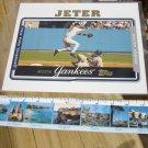 TOPPS DEREK JETER NEW YORK YANKEES 8x10 JUMBO BASEBALL PHOTO CARD in ULTRA-PRO PROTECTOR!