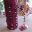 "LOLITA - LOVE MY WINE ""BIRTHDAY GIRL"" 15 Oz. HAND PAINTED STEM WINE GLASS by Lolita!"