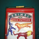 WILLIAMS-SONOMA ANIMAL COOKIE CUTTERS - SET OF 10 IN COLLECTIBLE TIN with BONUS GINGERBREAD MAN!