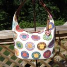 DOONEY & BOURKE DB MEDALLION BUCKET HANDBAG PURSE - CREAM/MULTI - AUTHENTIC - New without Tag!