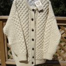 INIS CRAFTS 100% WOOL BUTTON DOWN CARDIGAN WITH POCKETS - SIZE LARGE - TAGS STILL ATTACHED!