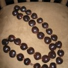 HAWAIIAN BROWN KUKUI NUTS NECKLACE/LEI - CHUNKY BEADS!