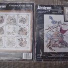 "JANLYNN ""CAT SAMPLER"" & ""WELCOME SPRING"" COUNTED CROSS STITCH KITS - BRAND NEW - MADE IN USA!"