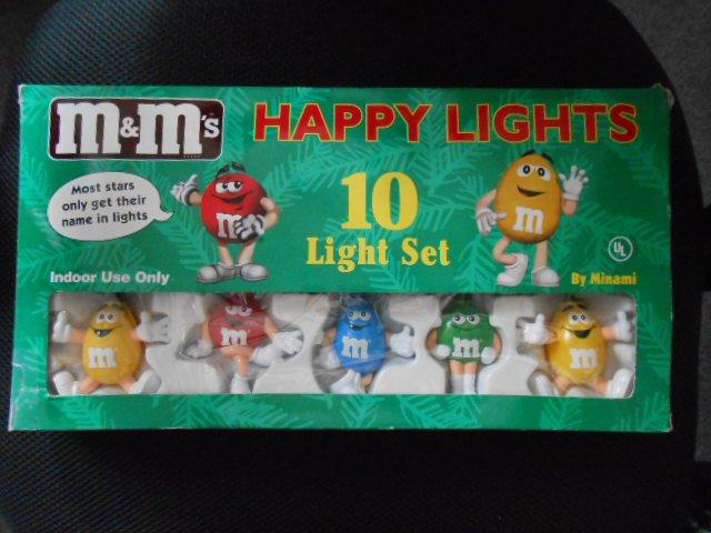 mms mars happy lights christmas 10 light string set red yellow blue green by minami - Mm Christmas Lights