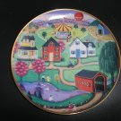 "FRANKLIN MINT AMERICAN FOLK ART COLLECTION ""SPRING FAIR"" LIMITED EDITION PLATE by Steven Klein!"