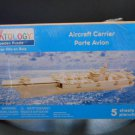 "CREATOLOGY 3D NATURAL WOOD PUZZLE ""AIRCRAFT CARRIER 22"" x 6.7"" x 7.9""!"