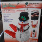 CREATE -N- CELEBRATE 3D STAND UP SILICONE SNOWMAN CAKE PAN by Roshco!