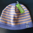 "BULA ""MODELE"" BEANIE HAT #9Z-WBDIN - LILAC & PEACH STRIPES - OSFM - NEW with TAG!"