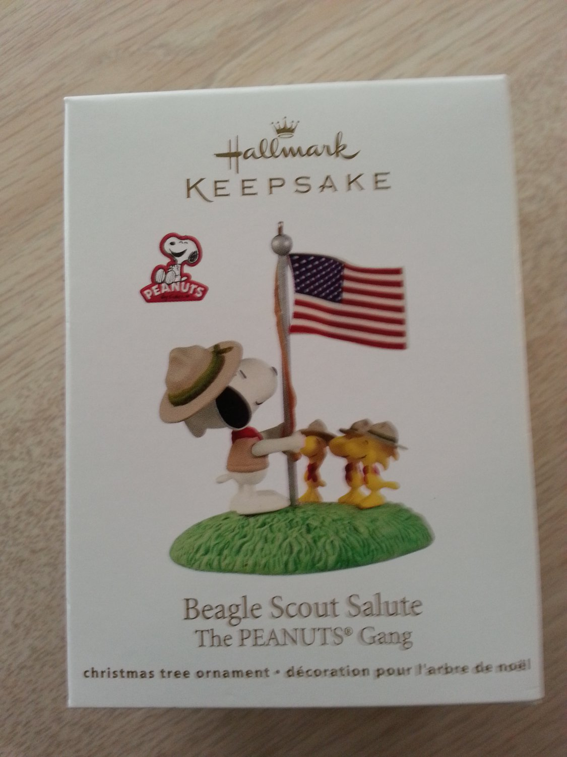 Hallmark The Peanuts Gang Beagle Scout Salute Ornament From 2012