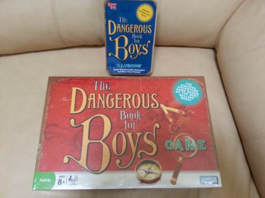 """The Dangerous Book for Boys Game by Parker Brothers - plus bonus """"ILLUSIONS"""" KIT!"""