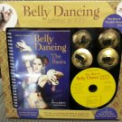 BELLY DANCING BOOK KIT with BRASS ZILLS (CYMBALS), BOOK & CD!
