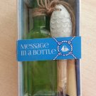 NANTUCKET MESSAGE IN A BOTTLE KIT - COMPLETE with SEA SHELLS!