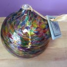 "Kitras Art Glass - ""CALICO"" - FRIENDSHIP- Hand Blown Glass Oil Lamp - 6""!"