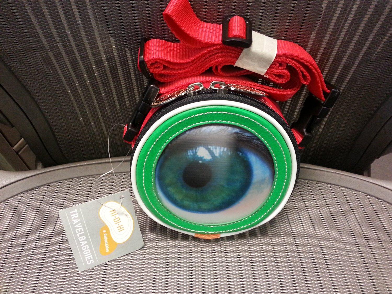 """Winky Cross-Body Bag - Flirty 3-D eye image """"winks"""" when you strut your stuff!"""