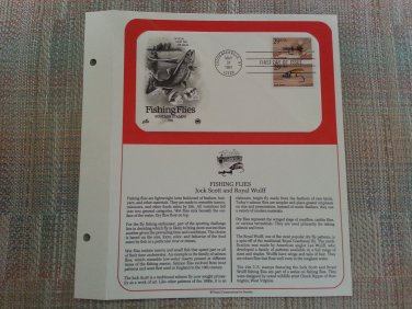FISHING FLIES MAY 31, 1991 OFFICIAL FIRST DAY OF ISSUE COVERS STAMP MINT CONDITION!