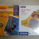 KODAK #808 8437 & EPSON #SO41141-100 High Gloss Inkjet Paper-8.5 x 11 Heavy Weight-TOTAL 200 sheets!