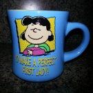 "Peanuts Lucy Van Pelt Mug - ""I'd Make a Perfect First Lady"" - Director Chair!"