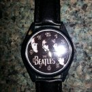 The Beatles Character Unisex Round Case Black Strap Watch!