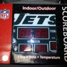 NFL New York Jets Scoreboard Alarm Clock with Temperature by CC Sports Decor!