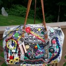 COLOSSAL Embellished Denim Duffle Tote - MICKEY MOUSE!
