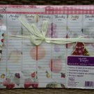 Magnetic Weekly Calendar (52-Sht Planner/Organizer) Fruits-Coordinating Magnetic Pen & Magnet!
