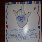 I Love You Hand Pin~ ASL ~ American Sign Language by Current, Inc.!
